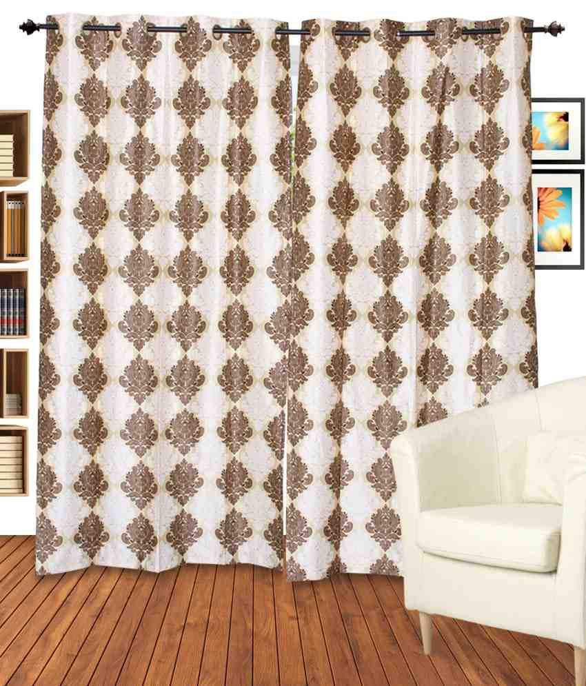 Allure Dekor Single Window Eyelet Curtain Brown Buy