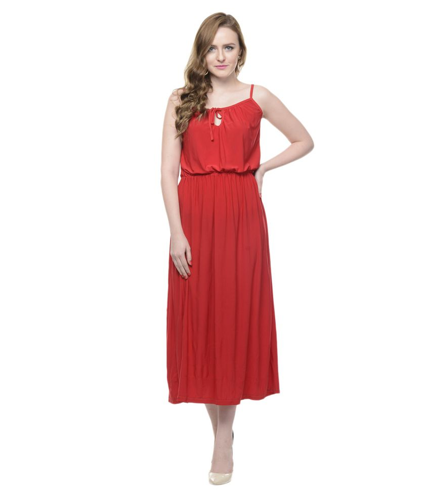 85098866382 Mayra Red Viscose Maxi Dress - Buy Mayra Red Viscose Maxi Dress Online at Best  Prices in India on Snapdeal