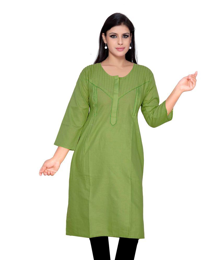 Moksh Pista Green Color Kurti Buy Moksh Pista Green