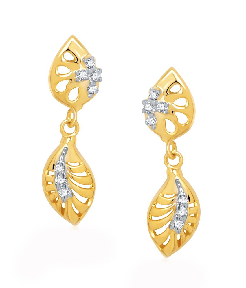 Vk Jewels Grace Gold And Rhodium Plated Earrings