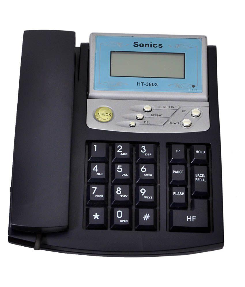 Sonics Corded Landline Telephone
