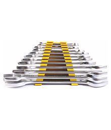 Stanley 70-379 Steel Double Open End Spanner Set (Silver) set of 8