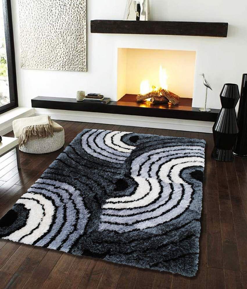 Flooring India Company Gray Polyester Hand Made Carpet ...
