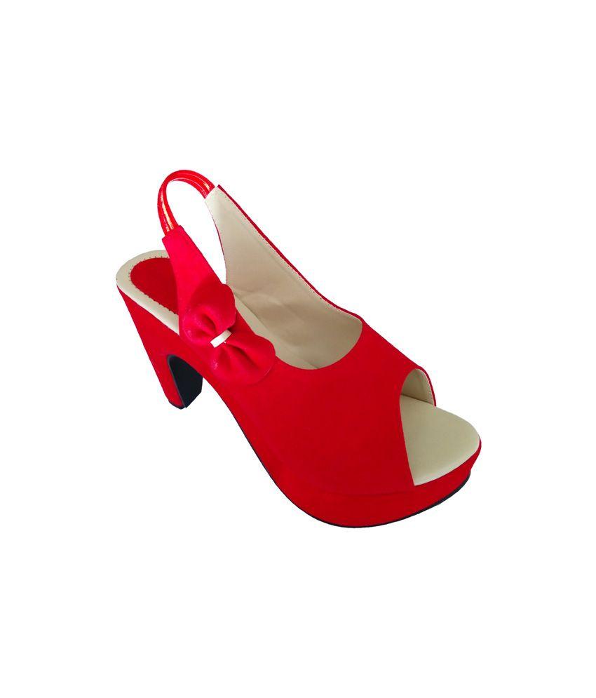 Heel2toe Red High Heel Bellys For Women