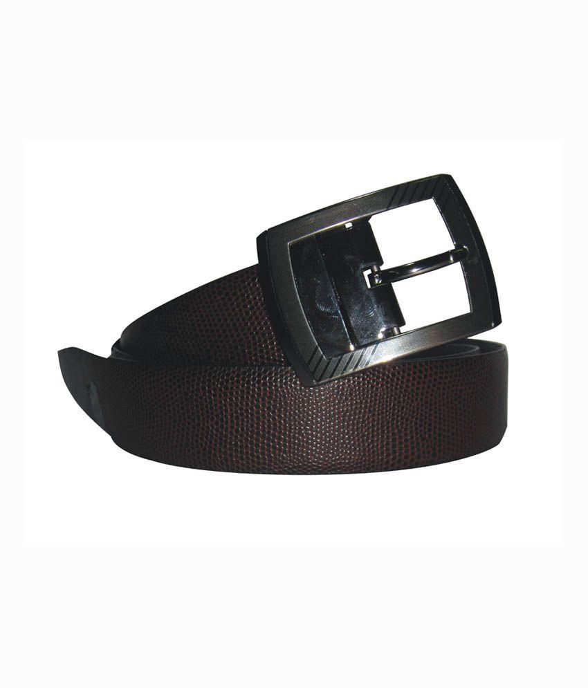 Syborite Black Leather Casual Skin Pattern Belt