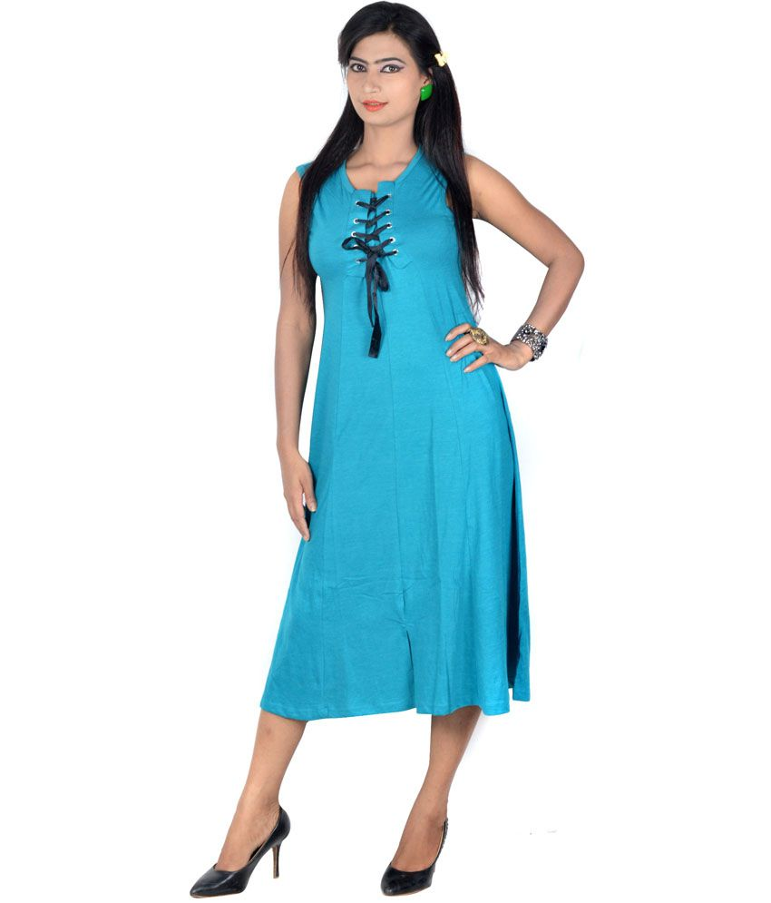 054ed231d4db34 Vivaa Blue Solids Hosiery Round Neck Long Top for Women - Buy Vivaa Blue  Solids Hosiery Round Neck Long Top for Women Online at Best Prices in India  on ...
