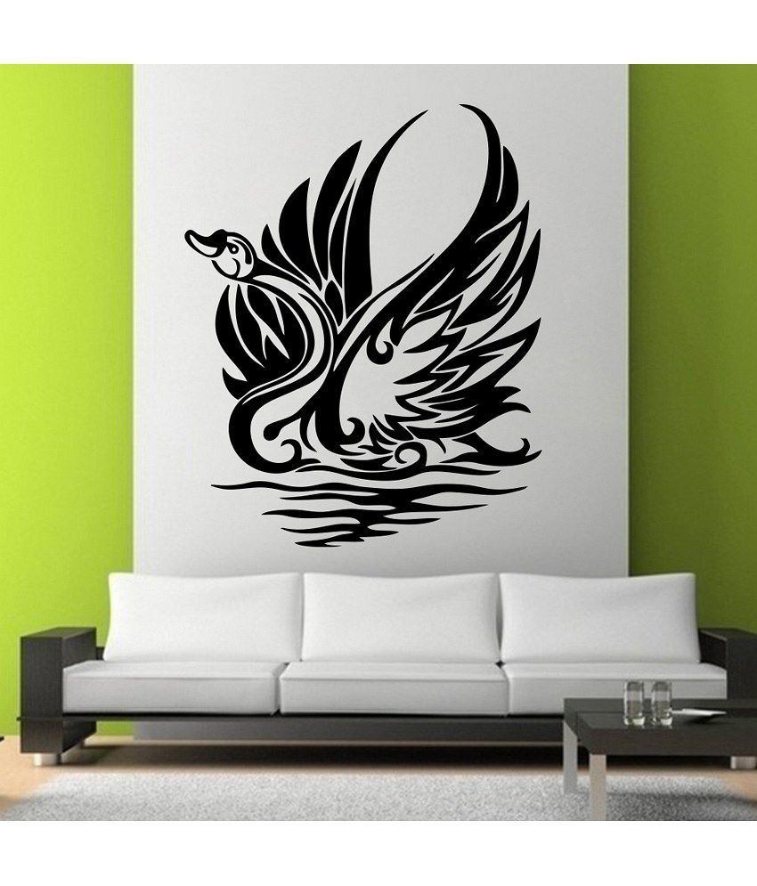 Snapdeal Wall Decor Items : Decor kafe swann wall decal buy