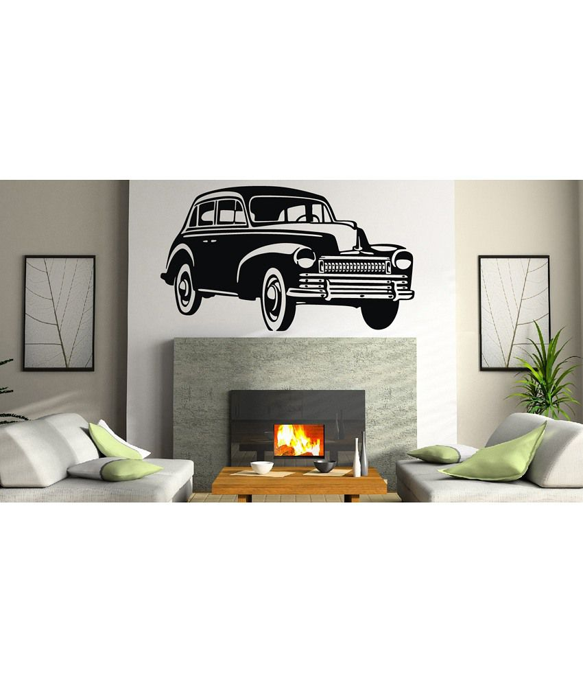 Vintage Auto Wall Decor : Decor kafe vintage car wall decal buy