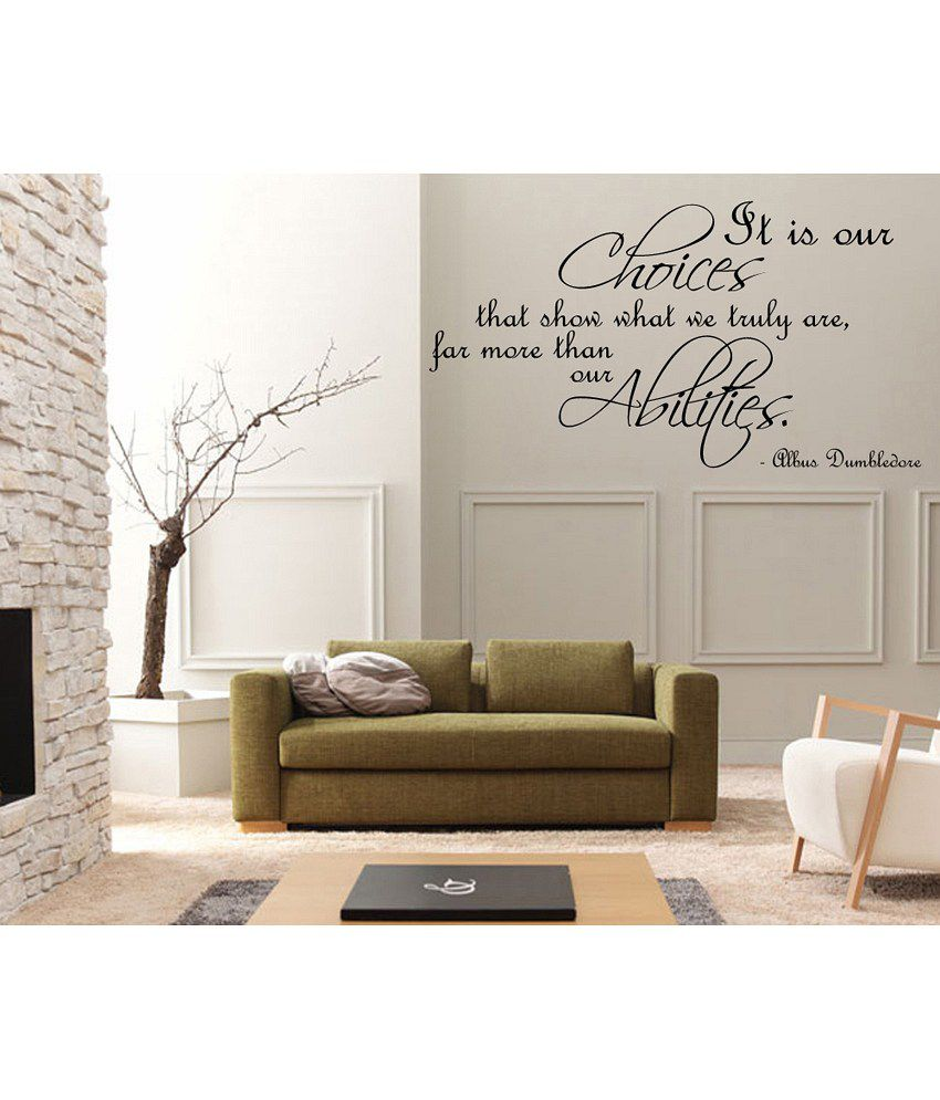 Decor kafe wall quote decal buy decor kafe wall quote for Snapdeal products home kitchen decorations