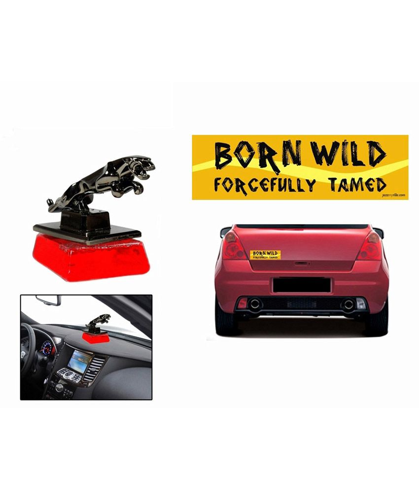 Speedwav combo of car bumper sticker born wild jaguar perfume red buy speedwav combo of car bumper sticker born wild jaguar perfume red online at low