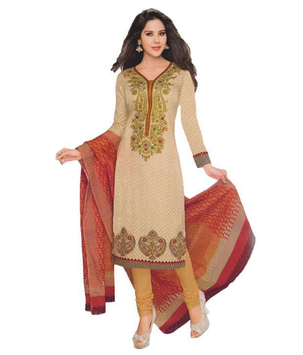 Universal Printed Cotton Salwar Suit Dress Material Buy