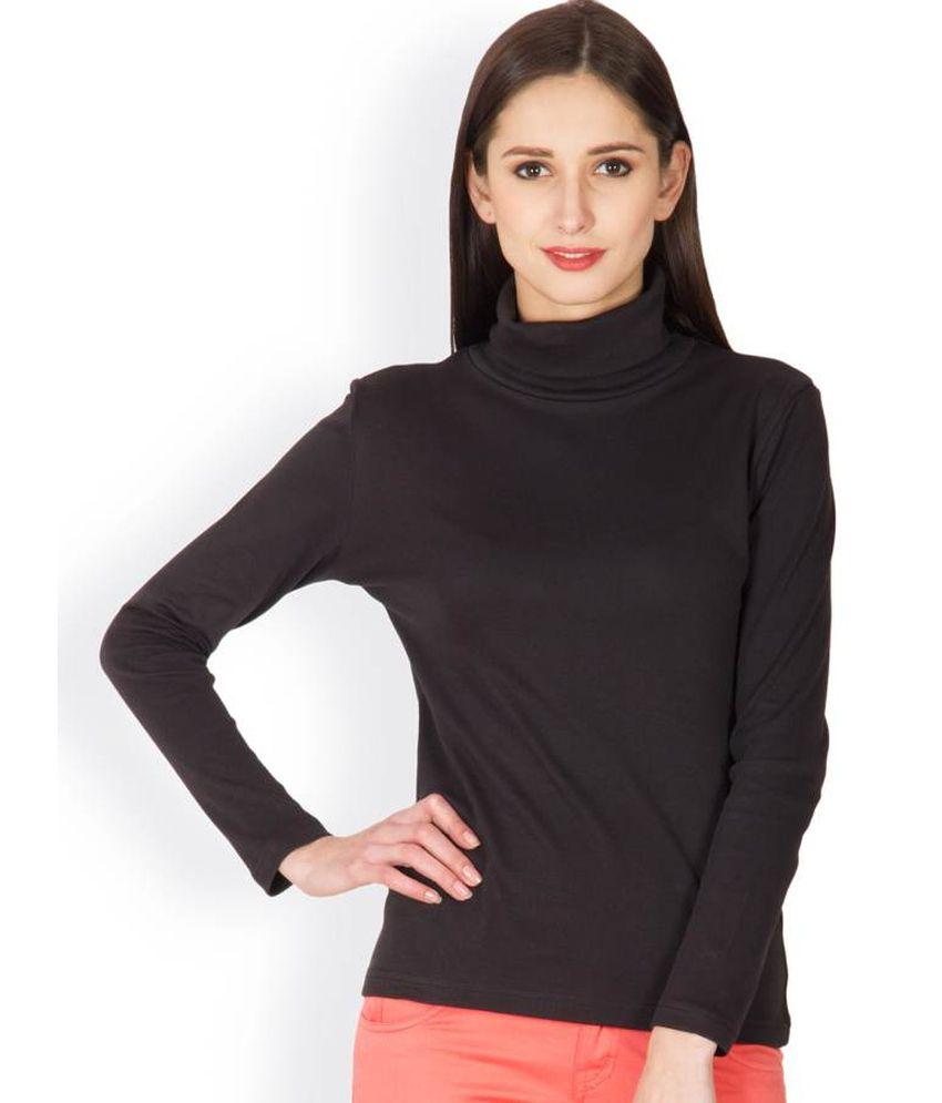 Hypernation Black Cotton T-shirt