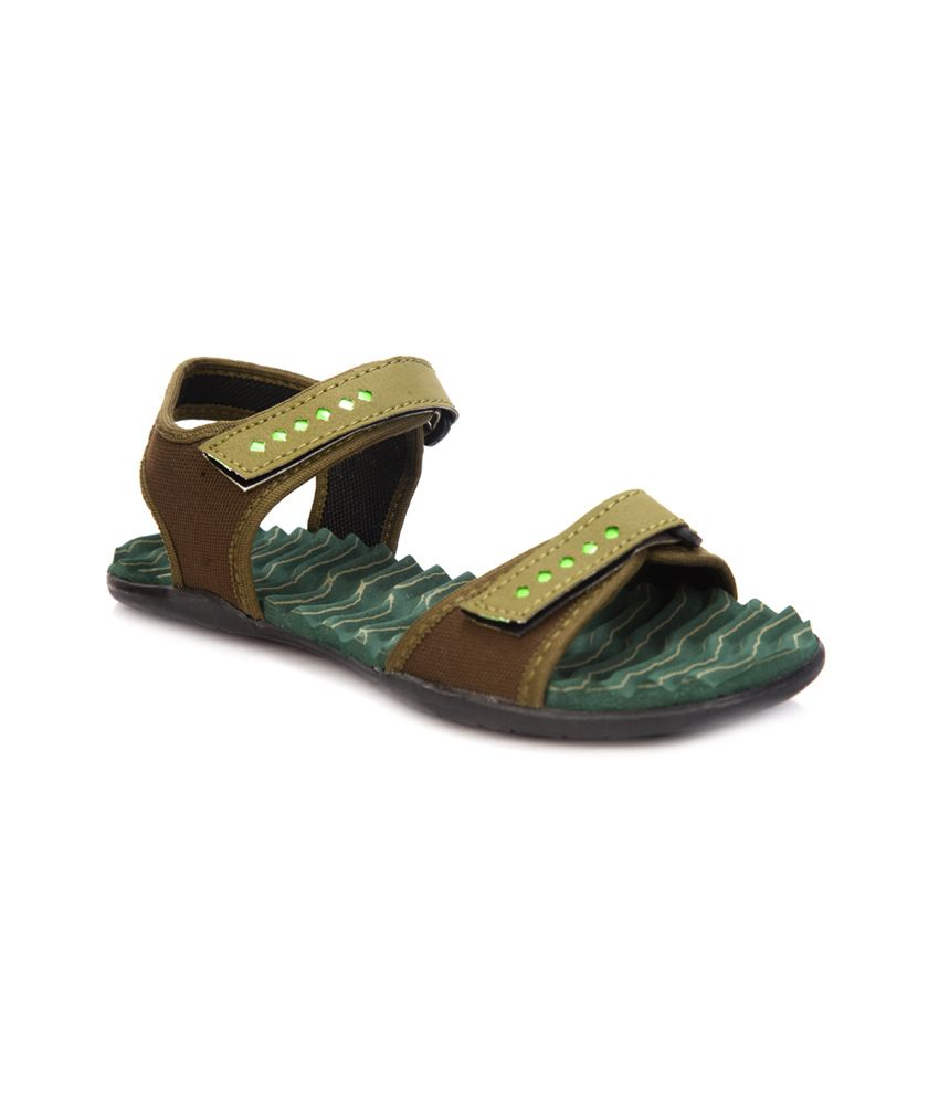 fd5ba3bf5e Latest Green Solids Cutout Open Toe Faux Leather Small Back Strap Heeled  Sandal available at SnapDeal