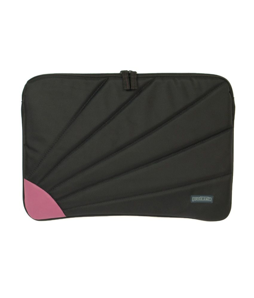 Protecta Rays Laptop Sleeve For Laptops Up To 13.3 Inches (black & Mauve)