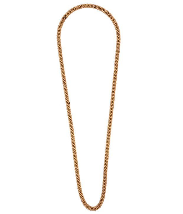 Youshine Beads N Bliss Gold Long Necklace