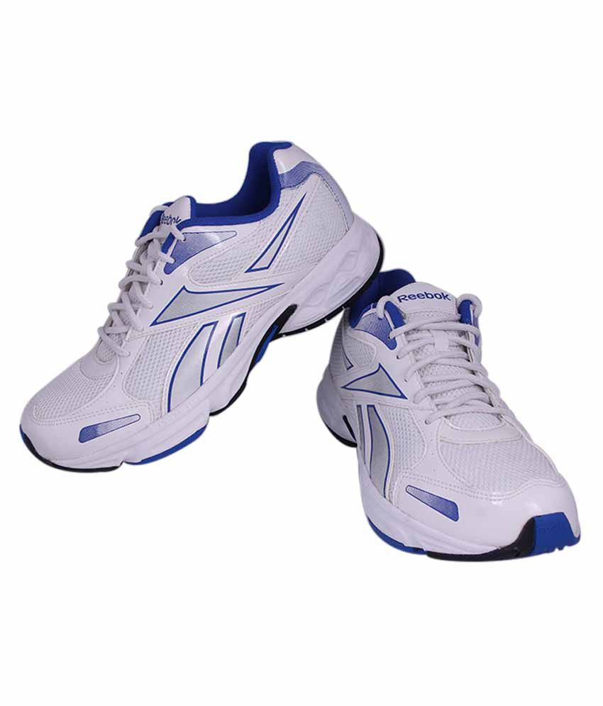 6a9ab4db386 Reebok White And Blue Colour Running Shoes For Men - Buy Reebok ...