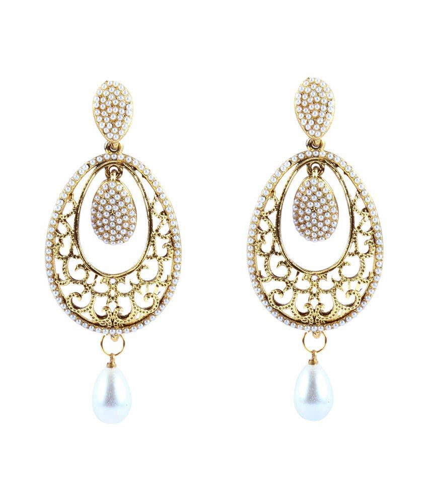 Reeti Fashions Long Pearl Earrings With Droplets