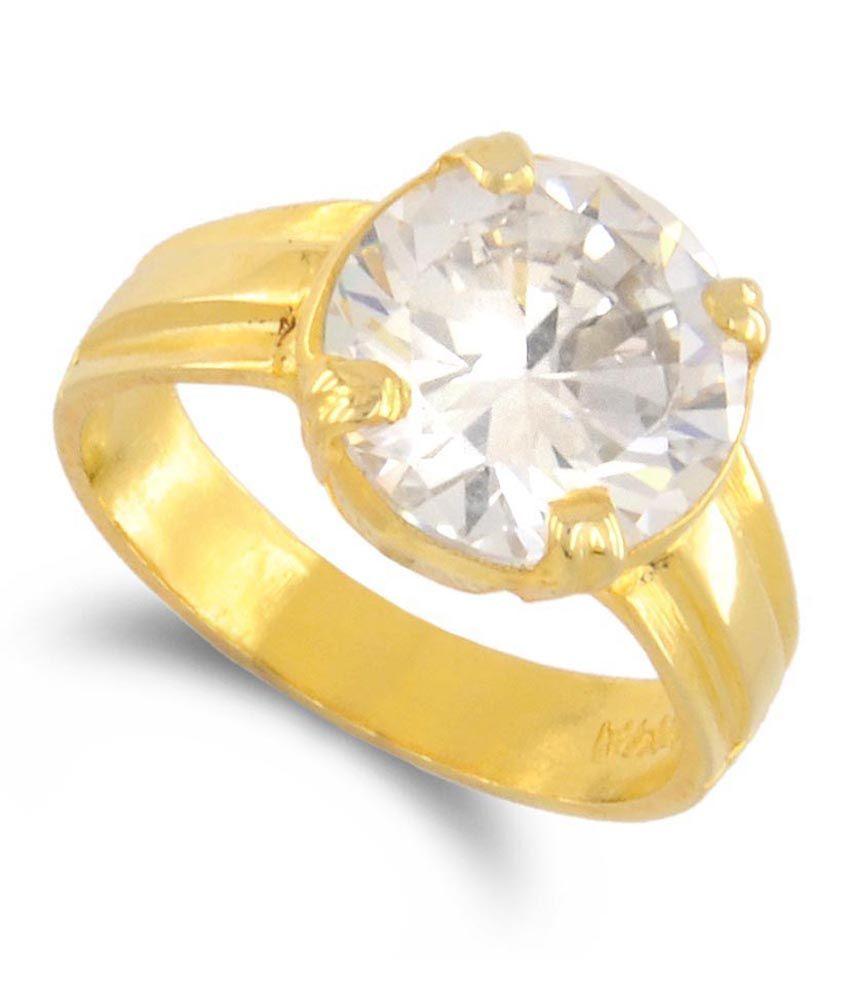 Avaatar 4.50 Ratti Zircon Diamond Substitute Astrological Panchdhatu Ring
