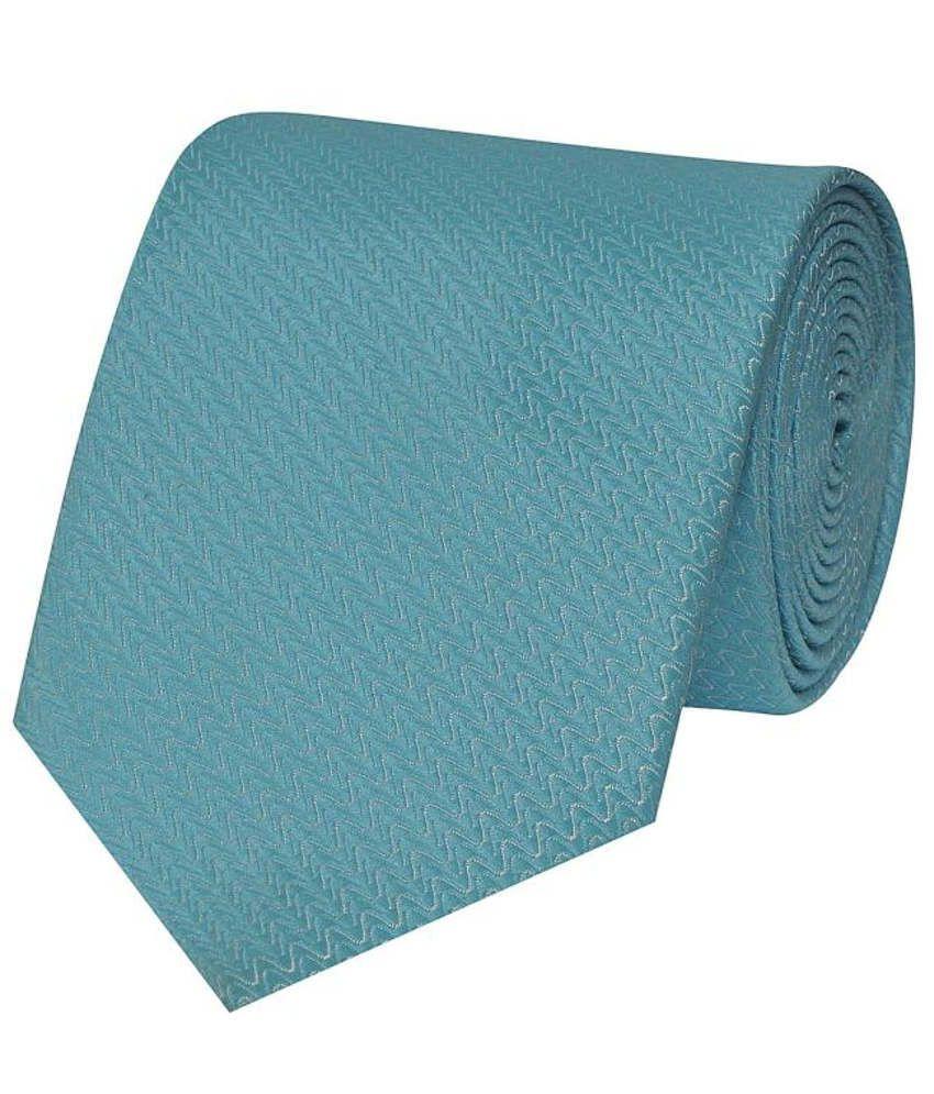 Tiekart Blue Micro Fiber Men's Broad Necktie