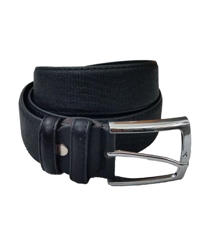 Verceys Black Leather Belt