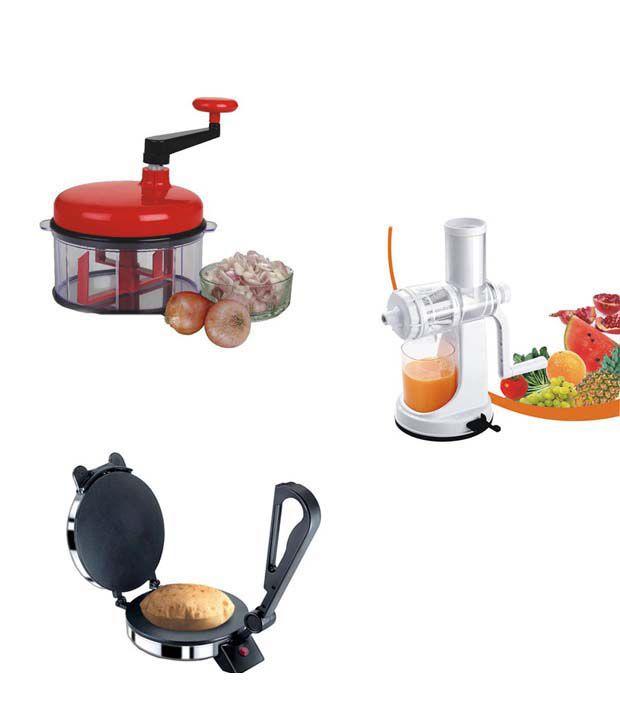 Benson Roti Maker Combo With Juicer FREE FREE Chop n churn Food Processor