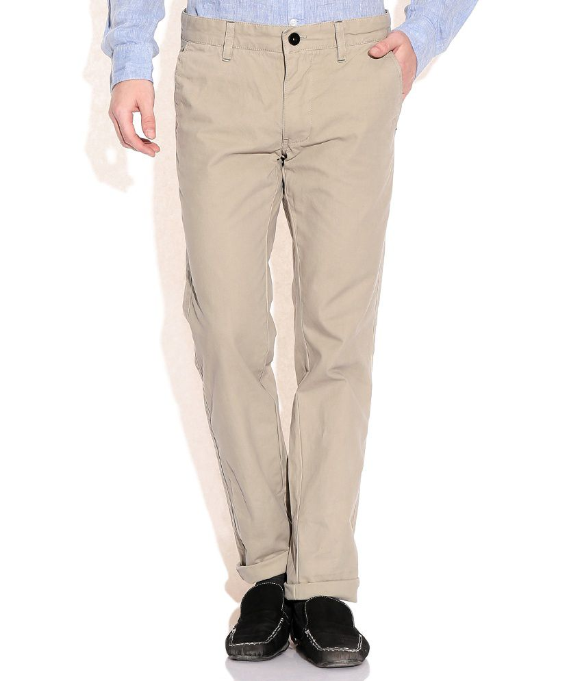 Indian Terrain Beige Comfort Casuals