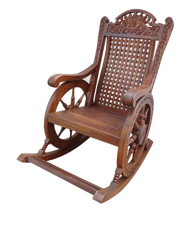 Great Sheesham Wood Recliner Chair In Brown Sheesham Wood Recliner Chair In Brown  ...