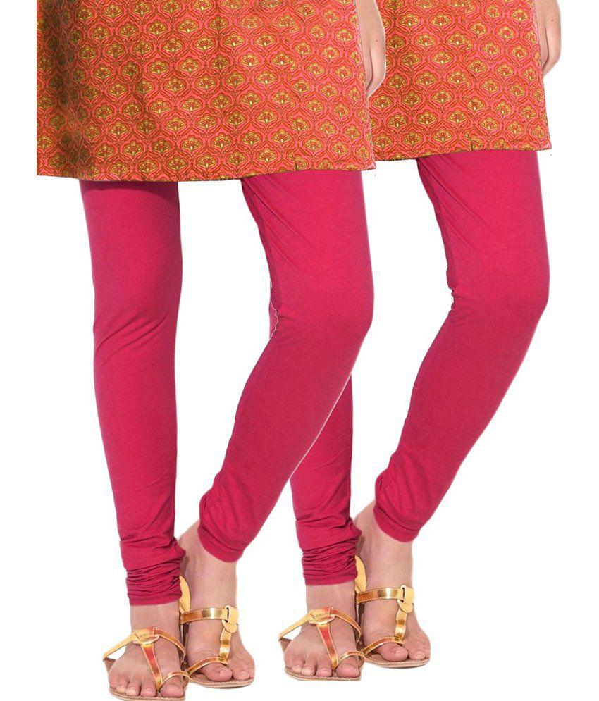 e858de21c7110 Lux Lyra Rani Pink Cotton Churidar Leggings - Pack Of 2 Price in India - Buy  Lux Lyra Rani Pink Cotton Churidar Leggings - Pack Of 2 Online at Snapdeal