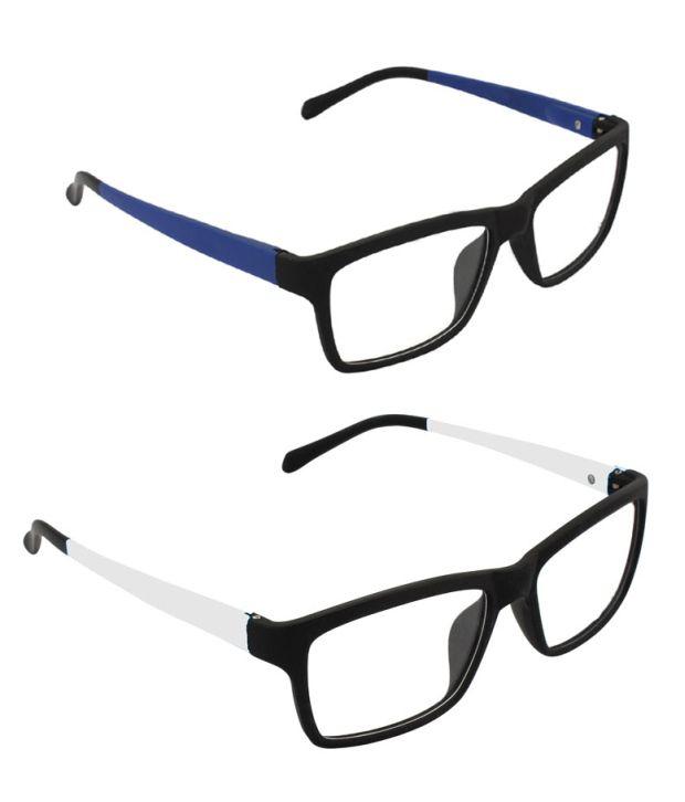 GLAZE iWEAR FF-BLUWHT(B) Black Square Eyeglasses