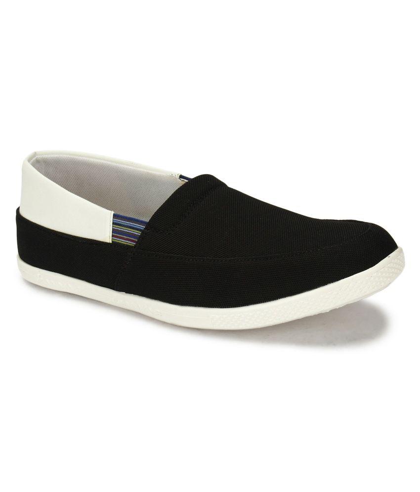 Playback Black Smart Casuals Men's Sports Shoes