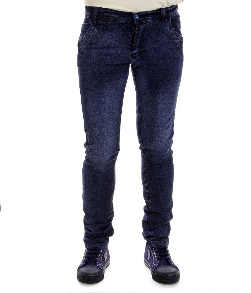 Powell Stretchable Slimfit Light Wash Blue Men's Jeans
