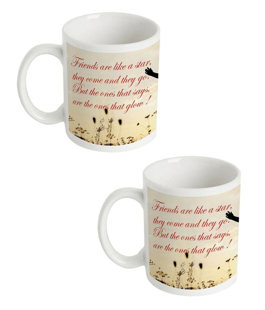 Amore Sweet Best Friends Mug Buy 1 Get 1-beige