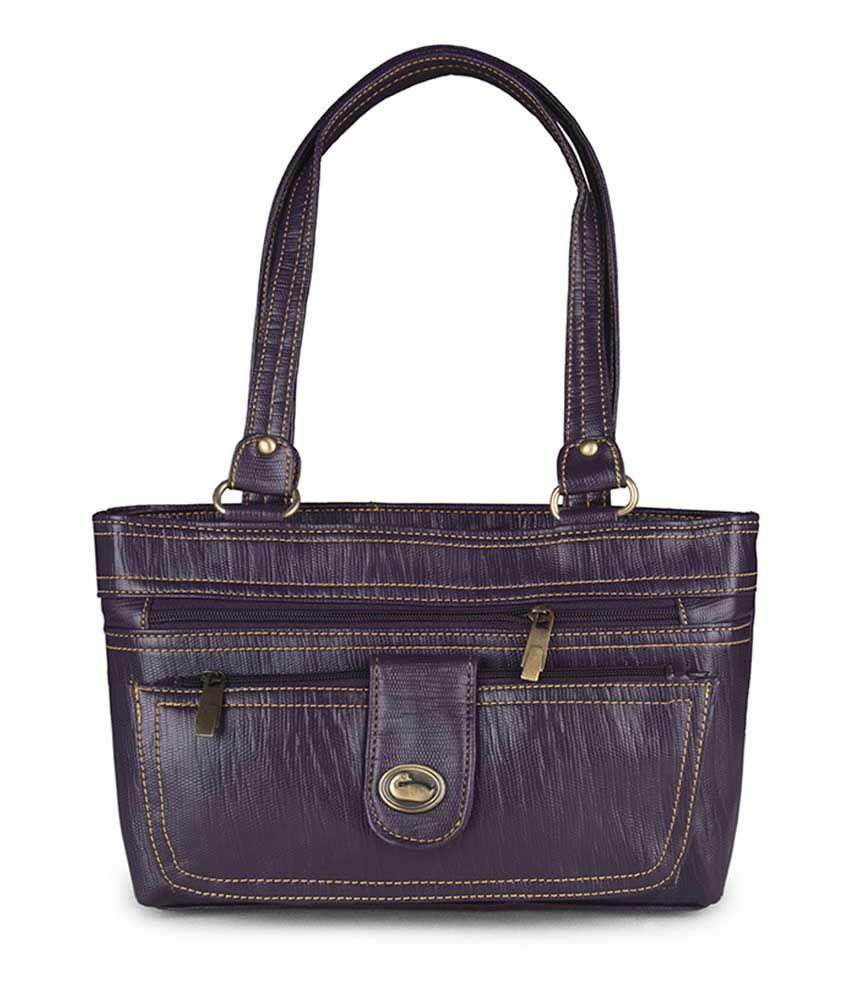 Carry On Handbag Stylish Purple Shoulder Bag