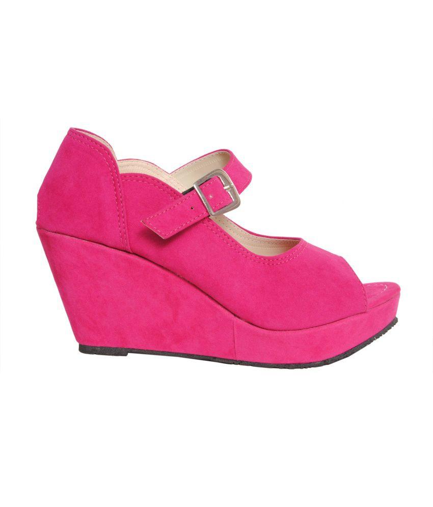 8cc569ecd Comfort Stepspink Eligent Party Wear Hot Pink Heels Price in India ...