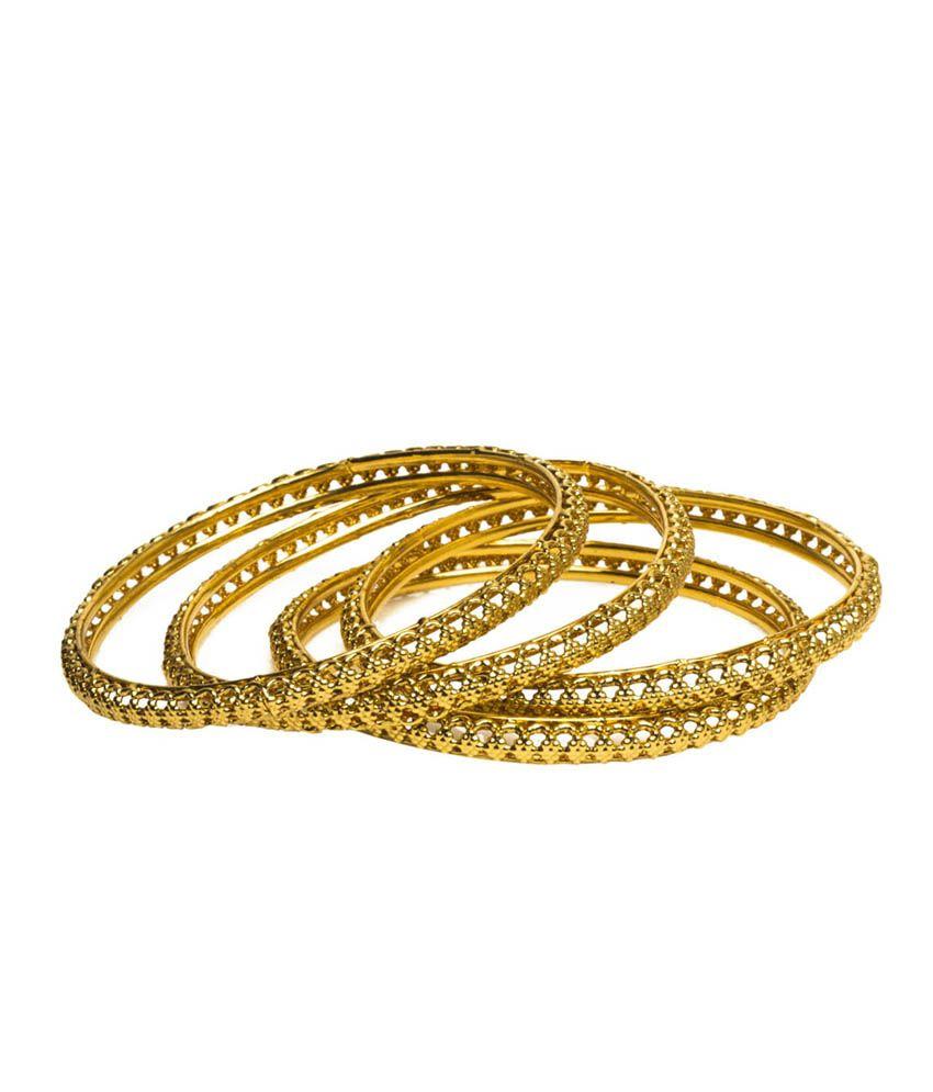 Joyas Golden Bangle Set for Women