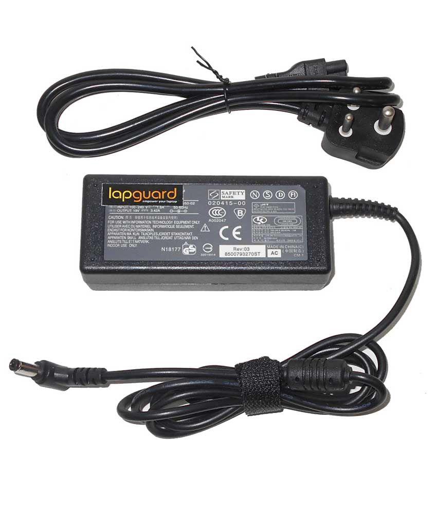 Lapguard Laptop Adapter For Asus A6u A6v A6vc A6vm A7 A8 A8e, 19v 3.42a 65w Connector