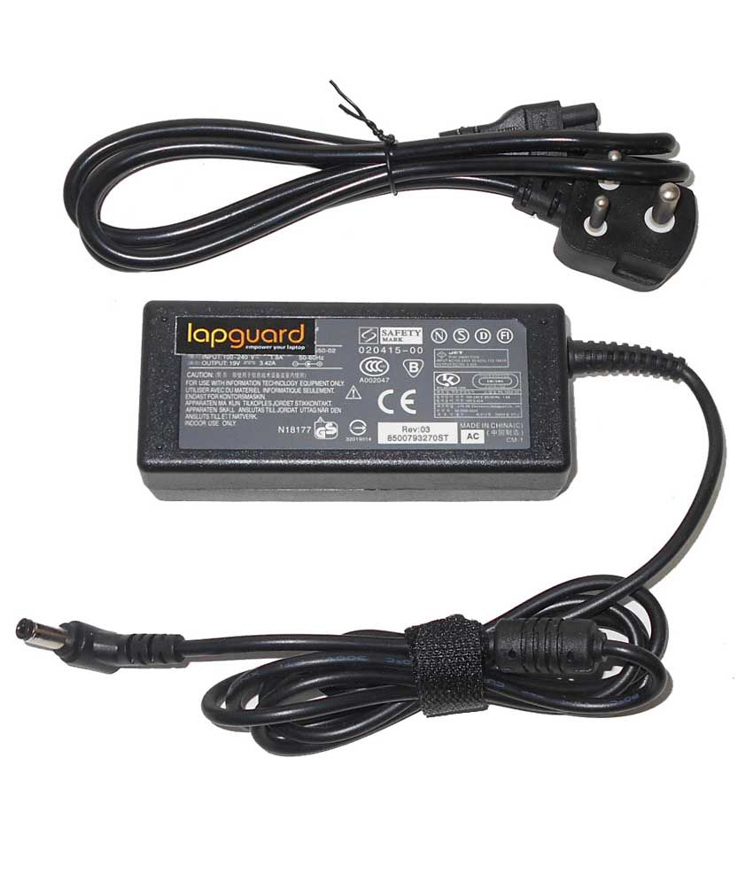 Lapguard Laptop Adapter For Toshiba Mini Nb250-10r Nb300, 19v 3.42a 65w Connector