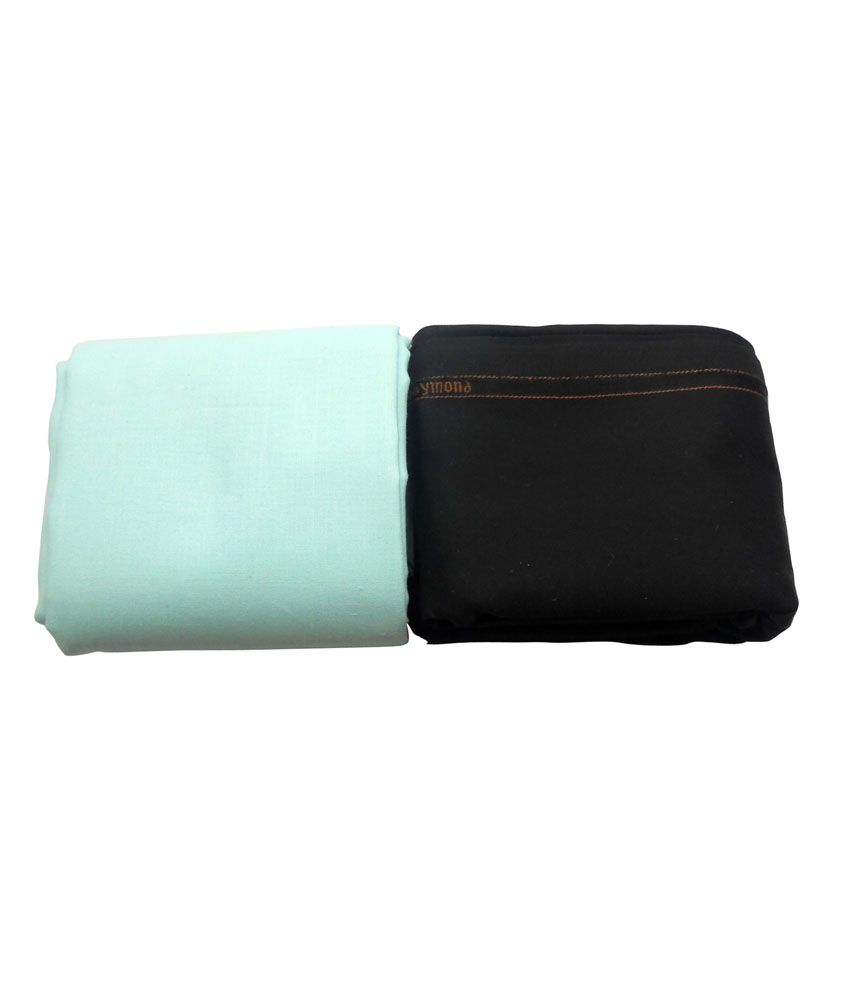 Raymond Premium Black Trouser And Cottonhub Cyan Shirt Fabric