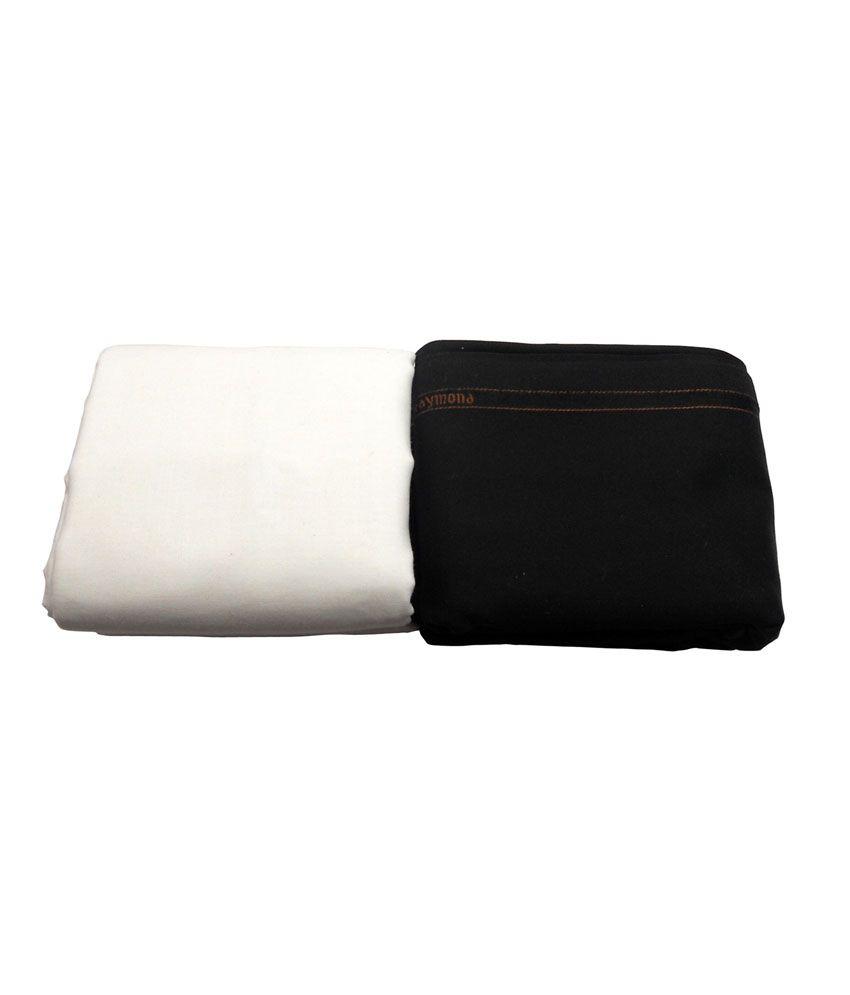 Raymond Premium Black Trouser And Cottonhub White Shirt Fabric