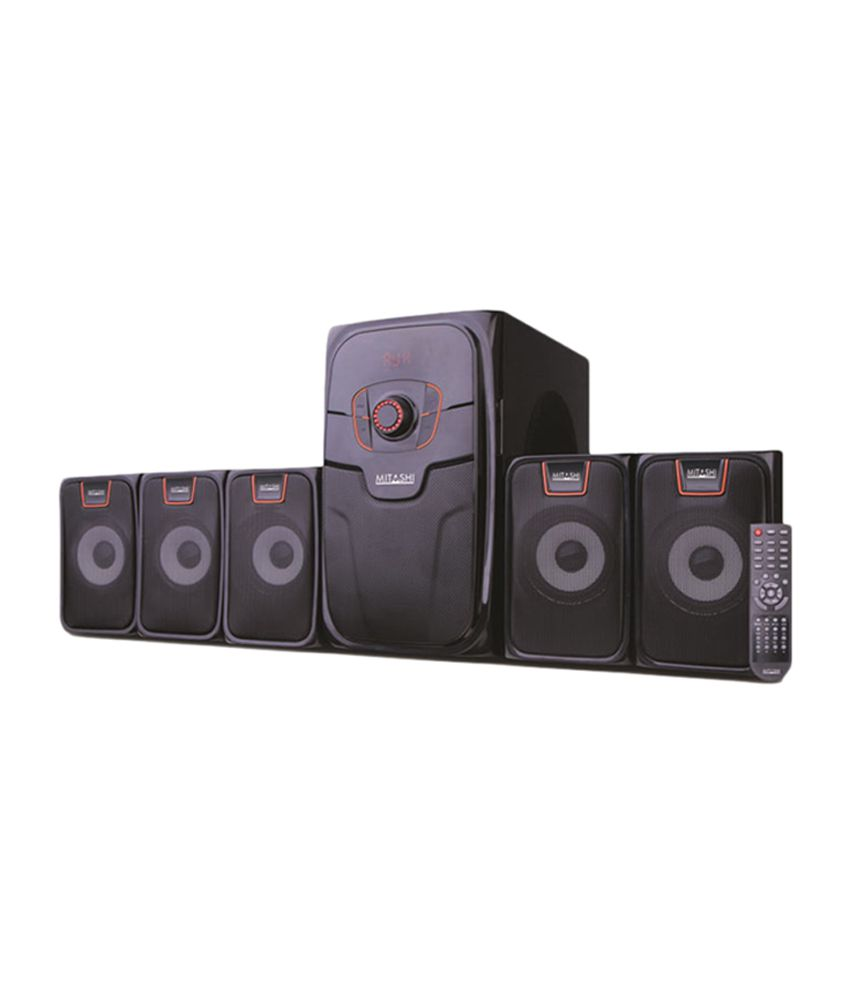 buy mitashi ht 5295 bt 5 1 ch sub woofer system online at best price in india snapdeal. Black Bedroom Furniture Sets. Home Design Ideas