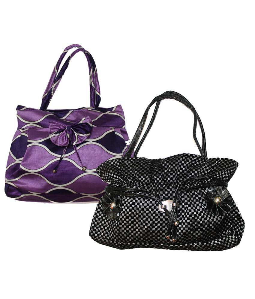 Christy's Womens Multi Color Preety Tote Bag