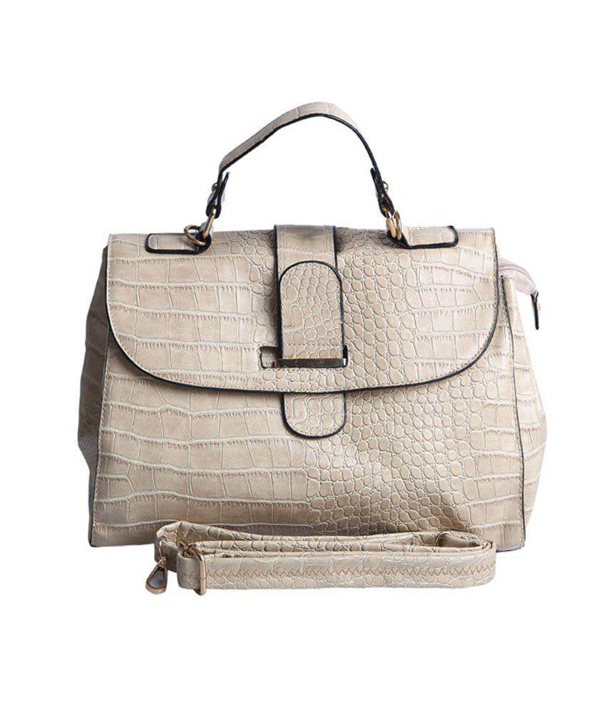 J - Daks Beige Non Leather Shoulder Bag