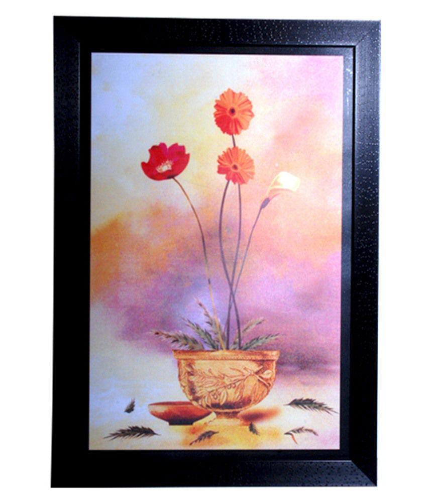 Hrinkar Decorative Printed Wall Frame Photo Size 12 W X 18 H Inch