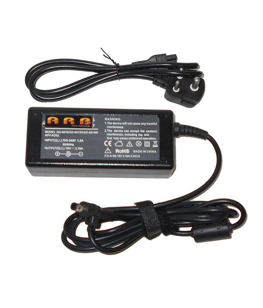 Arb Laptop Adapter For Samsung Vm8090cxtd Vm8095 19v 3.16a 60w Connector