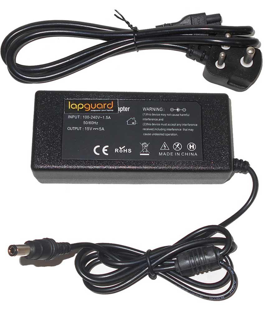 Lapguard Laptop Adapter For Toshiba Satellite L300-1du L300-1fj L300-1fk, 19v 3.95a 75w Connector