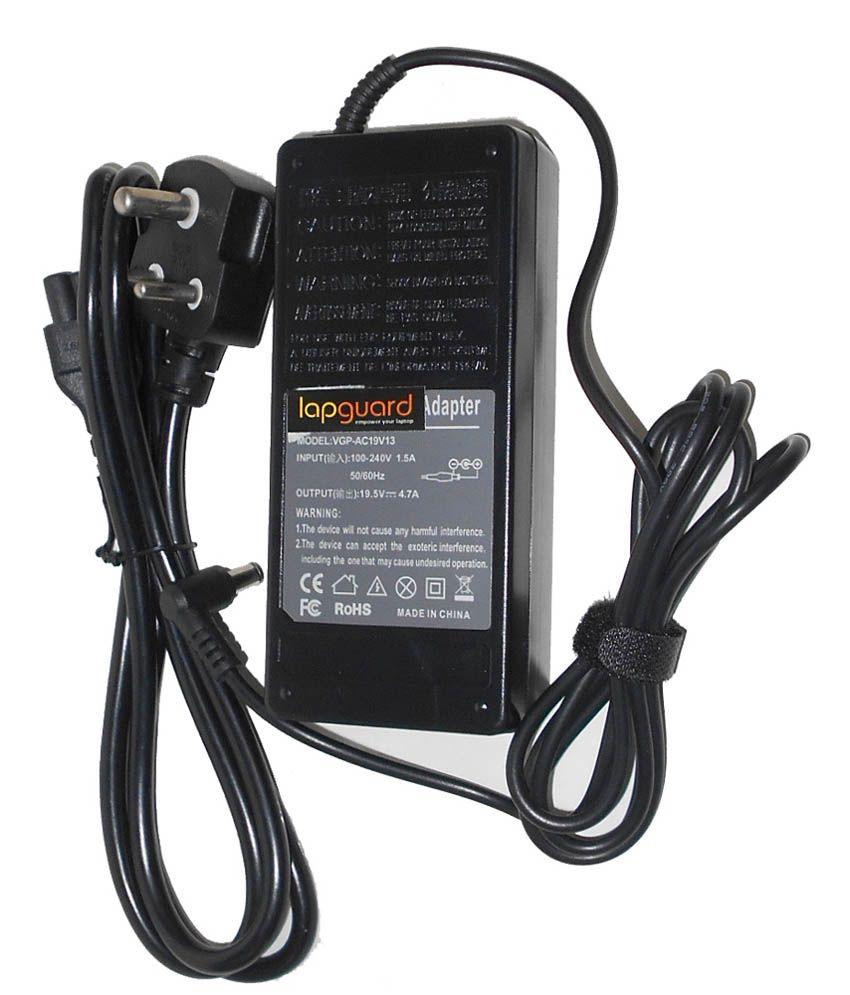 Lapguard Laptop Charger For Asus U32jc U32u U32vj U32vm 19v 4.74a 90w Connector Pin : 5.5 X 2.5 Mm With One Year Warranty