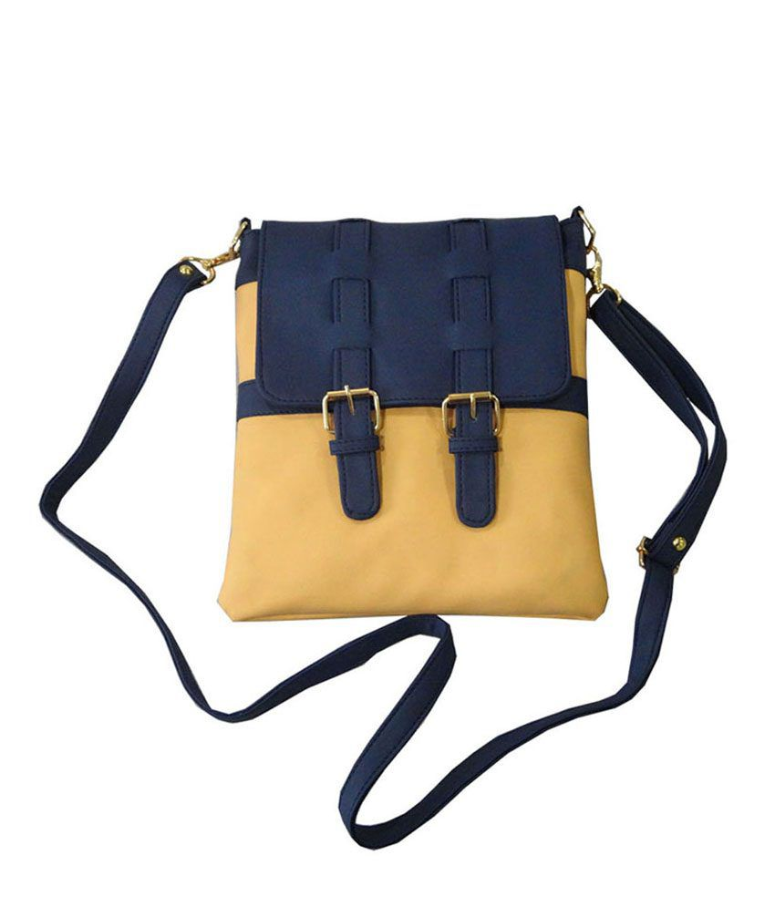 Toteteca Bag Works Yellow Leather Sling Bag