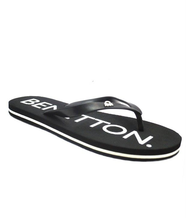4d31cd710 United Colors Of Benetton Black Stylish Casual Flip Flops Price in India- Buy  United Colors Of Benetton Black Stylish Casual Flip Flops Online at Snapdeal