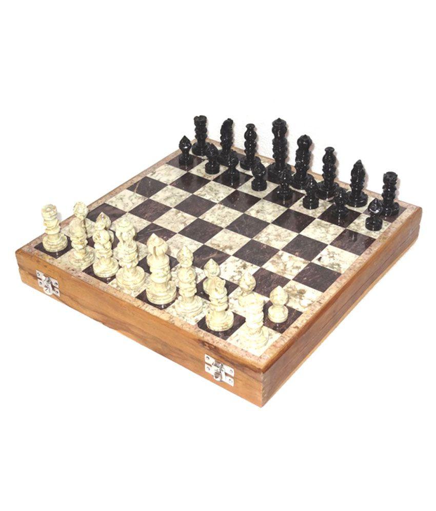 Allamgallam Handmade Marble Chess Set 8 X 8 Inch