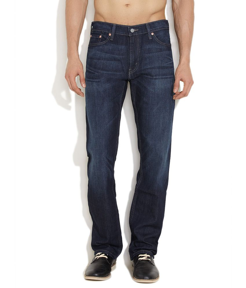 Levi's Dark Blue Smashing Straight Fit Jeans